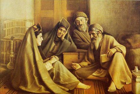 «فالگیر یهودی»، اثر کمال الملک، 1293 هجری شمسی